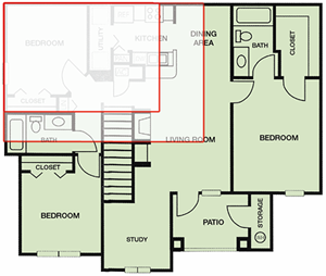 Floor Plan of Corporate Apartments