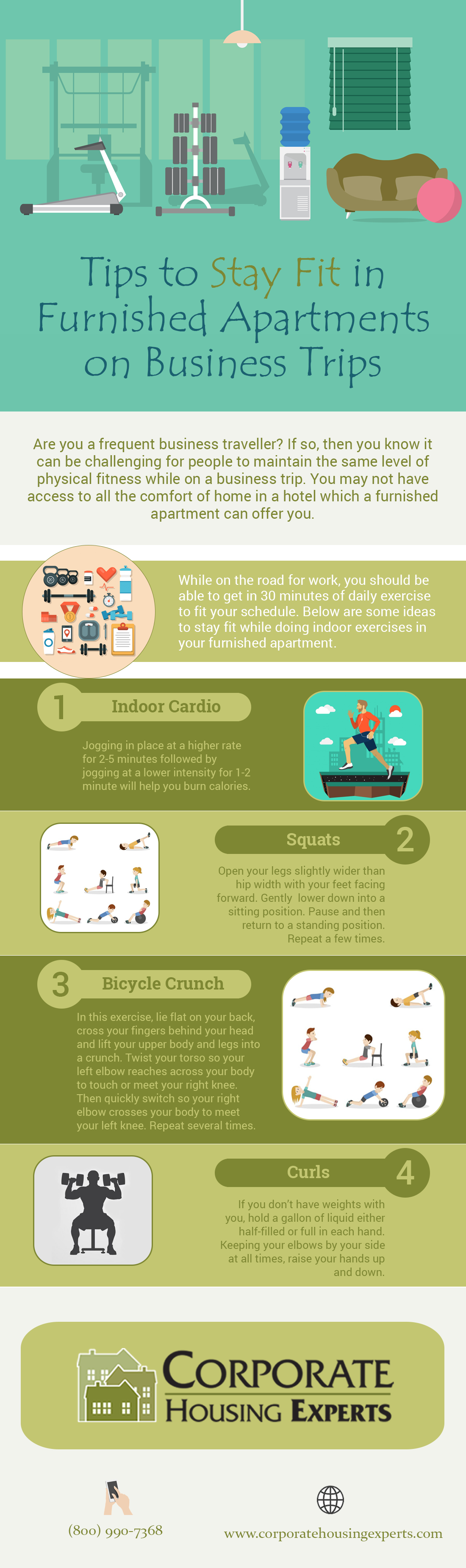 Tips to Stay Fit in Furnished Apartments